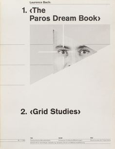 the paros dream book | grid studies
