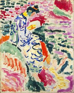 Henri Matisse(1869-1954), La Japonaise: Woman beside the Water (1905), oil and pencil on canvas, 35.2 x 28.2 cm, MoMA, NY