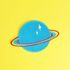 c6a953c66db Rainbow Planet Embroidered Iron on Patch - Space patch - Rainbow patch -  Gift - Children s Patch - Big Kid - Colourful - Gift