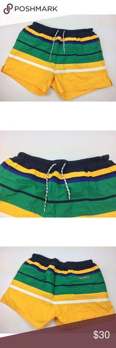 3c7cf4e7bc Vintage 90s nautica swim trunks color block sz xl Very good condition.  Adult size xl
