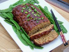 Curry and Comfort: Hoisin Glazed Asian Meatloaf, I made this gluten free by using almond flour and one egg instead of the bread. Also use gluten free soy sauce and gluten free hoisin