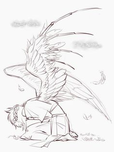 Character Sketches 47428602314875695 - Source by justine_viaud Wings Drawing, Drawing Base, Angel Drawing Easy, Drawing Sketches, Art Drawings, Drawing Tips, Couple Drawings, Shoe Drawing, Illustration Art Drawing