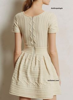 Вязаное платье для девушки спицами | Вяжем с Лана Ви