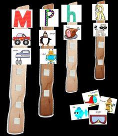 Paint Stick Word Work - great phonics activity