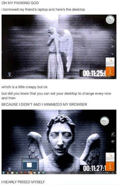Funny pictures about Creepy desktop background. Oh, and cool pics about Creepy desktop background. Also, Creepy desktop background. Geeks, Undertale Undertale, Don't Blink, Film Serie, Look At You, Superwholock, Tardis, Satire, I Laughed