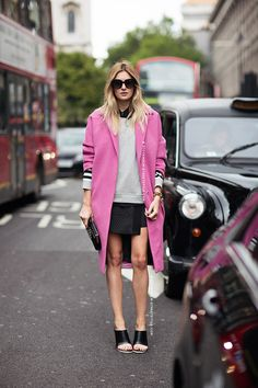 pink coat, so awesome