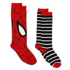 004d91c0d61 Amazon.com  Black Bolt Superhero Womens Novelty Costume 2 pack Knee High  Socks (9-11 Womens (Shoe  4-10)