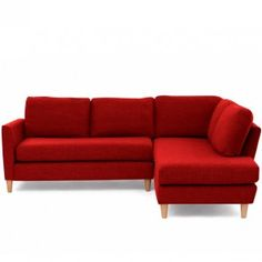 Ridley Corner Right Hand Facing Sofa Red #vibrant #bright
