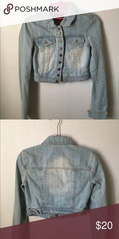 Highway jean jacket! ((: It's cute but I never really worn it ! It's a cute cropped Jean jacket ((: Highway Jeans Jackets & Coats Jean Jackets