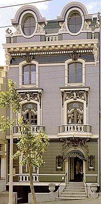 1900 French Neo-Baroque      This home has a real European feel to it.      Rarely do you see Gods and Mermaids      depicted on a home of this size. This is      truly in a class unto its self.