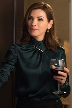Alicia Florrick (played by the amazing Julianna Margulies) in The Good Wife