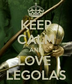 Am I weird for pinning this, too? Sorry. I love Legolas...
