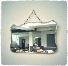 Miroir Mural Vintage Biseauté Art Déco à Suspendre