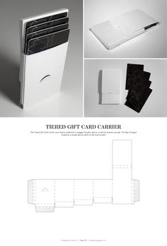 Tiered Gift Card Carrier – structural packaging design dielines