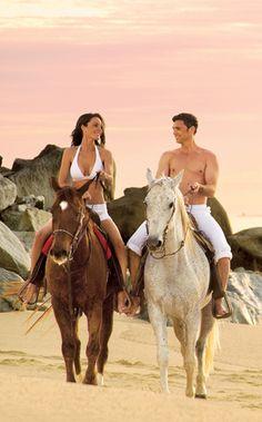 Horseback riding on the beach photography