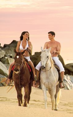 Horseback riding on the beach photography