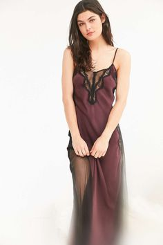 Out From Under Good Fortune Satin Maxi Slip - Urban Outfitters