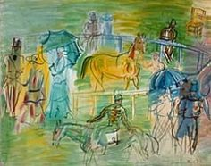 Raoul Dufy France, 1877-1953 Paddock, n.d. Oil on canvas 23 1/2 x 28 3/4 in. Aaron M. and Clara Weitzenhoffer Bequest, 2000 FJJMA - Norman, OK