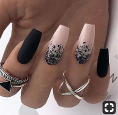 20 Black and White Acrylic Nails Ideas, 20 Black and White A.- 20 Black and White Acrylic Nails Ideas, 20 Black and White Acrylic Coffin … – Nail Design Ideas! 20 Black and White Acrylic Nails Ideas, 20 Black and White Acrylic Coffin … - Stylish Nails, Trendy Nails, Cute Nails, Elegant Nails, Cute Black Nails, Black And Nude Nails, Black Ombre Nails, Black Manicure, Manicure Pedicure