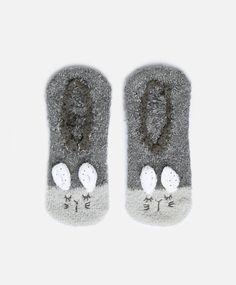 Fluffy animal socks - OYSHO