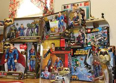 """""""81 days until #batmanvsuperman #dawnofjustice ... Here's a look at just the #supermancollection from #batmanvsupermandawnofjustice #superman #dccomics…"""""""