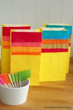 Fiesta fringe bags for Cinco de Mayo  {Handcrafted Parties}