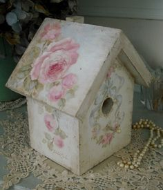 Debi Coules Bird | Hand painted birddhouse by Debi Coules