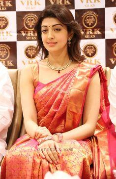 Actress-pranitha-launches-vrk-silks-showroom