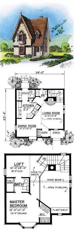 The kind of floor-to-ceiling window design relies upon closely on the . Cottage Home Plans Cotta. Sims House Plans, Small House Plans, House Floor Plans, Villa, Best Decor, Cottage Plan, Cabins And Cottages, Floor To Ceiling Windows, Cabin Plans