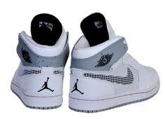 Air Jordan 1 Retro 89 Newest Mens Shoes Online White Cement Grey