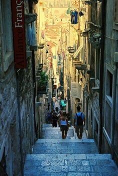 | ♕ |  Ancient passage in Dubrovnik, Croatia  | via fromeuropewithlove