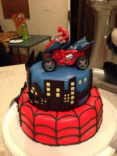 Spider Man Birthday Cakes Photo Gallery Of The Spiderman Birthday