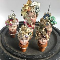 original art + vintage finds + parts for your art by ElizabethRosenArt - Assemblage Art Chubby, Creepy Dolls, Doll Parts, Old Dolls, Assemblage Art, Doll Head, Recycled Art, Diy Crafts To Sell, Vintage Dolls