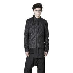 Shop Sustainable Luxury Avant-garde Designer Barbara I Gongini MAN Black Leather Med Jacket at Erebus