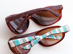 Customize your sunglasses with Mod Podge!