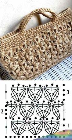 26 beautiful crochet bag designs and graphics - Bolsas crochê - . 26 beautiful crochet bag designs and graphics - Bolsas crochê - # crochê # Häkeltasche Always. Crochet Stitches Patterns, Crochet Motif, Crochet Baby, Crochet Designs, Knitting Patterns, Bag Crochet, Crochet Handbags, Crochet Purses, Baby Converse