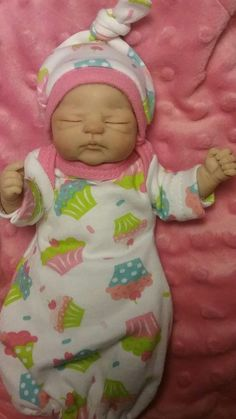 *Nugget *OOAK mini newborn baby doll ART hand sculpted* by Violet Parker****