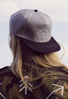 'Hope & Glory' Grey Snapback Cap