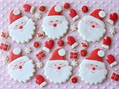Smiling Santa Cookies