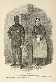 Male and female convicts, 1862