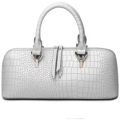 Gray HORIZONTAL Women's Handbag Solid Color Stone Shaped Line... ❤ liked on Polyvore featuring bags, handbags, tote bags, gray handbags, grey handbags, gray tote, handbag purse and tote purses