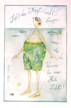 "Christina Thrän | Briefkarte ""Lass den Kopf nicht hängen"""