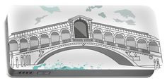 Ponte Di Rialto In Venice Portable Battery Charger by Marina Usmanskaya for home design.   Medium (5200 mAh) One of the four bridges across the Grand Canal in Venice, is located in the Rialto quarter.Travel in Italy.