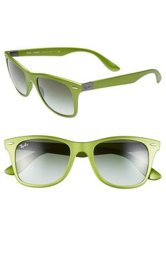 Yes please! Metallic green Ray-Ban Sunglasses.