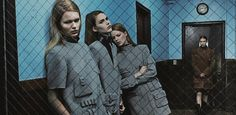nna ewers, vanessa moody, kaitlin aas, lexi boling and kat hessen by steven klein for alexander wang f/w 14.15