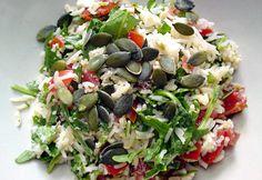 Reissalat mit Minze und Rucola