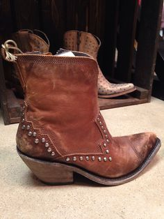 Liberty Black Delano cotto mid-height brown boots with studs                                                                                                                                                                                 More