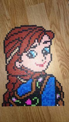 Princess Anna - Frozen hama perler beads