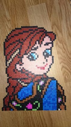 Princess Anna - Frozen hama perler beads