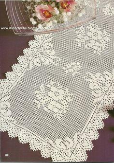 Doce Crochê: Belas toalhas de mesa